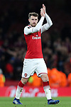 Aaron Ramsey of Arsenal during the UEFA Europa League Quarter-Final 1st leg match at the Emirates Stadium, London. Picture date 5th April 2018. Picture credit should read: Charlie Forgham-Bailey/Sportimage