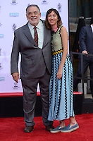 Francis Ford Coppola + grand-daughter Gia Coppola @ Francis Ford Coppola Hand & Foot Print ceremony held @the TCL Chinese theatre.<br /> April 29, 2016