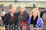 Siobhan Barry (Causeway) Nora Ann McMahon (Lisselton) and Mary Hanrahan (Moyvane) pictured at Listowel races on Sunday.