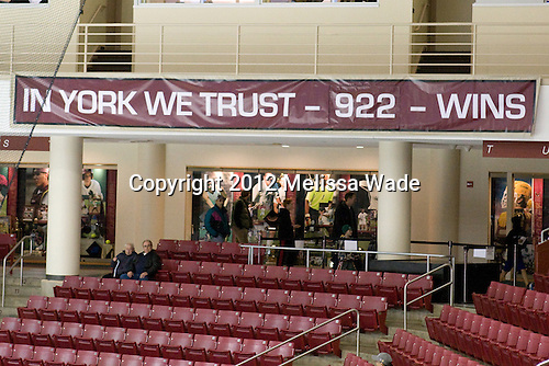 Pre-game. - The Boston College Eagles defeated the visiting Dartmouth College Big Green 6-3 (EN) on Saturday, November 24, 2012, at Kelley Rink in Conte Forum in Chestnut Hill, Massachusetts.