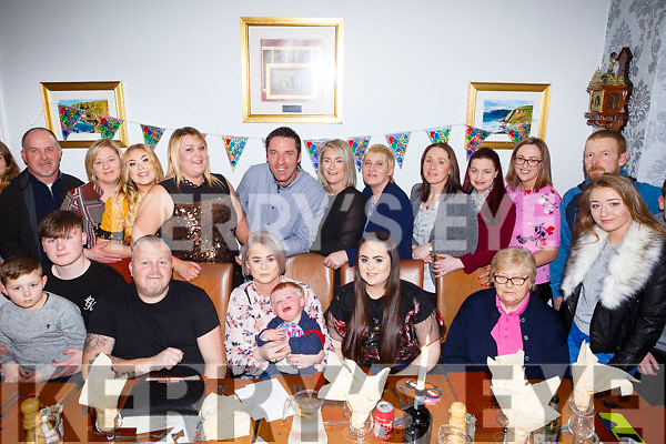 Nora Rourke Robinson of Ahabeg, Lixnaw celebrating her 50th birthday with her family in Bella Bia on Saturday night last.  Contact no 0870566901