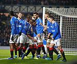 12.12.2019 Rangers v Young Boys Bern: Alfredo Morelos celebrates his goal for Rangers