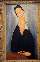 """Amérique/Amérique du Nord/USA/Etats-Unis/Vallée du Delaware/Pennsylvanie/Philadelphie : Philadelphia Museum of Art - """"La Femme à la cravate"""" de Modigliani"""