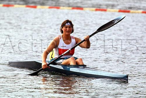 04.08.1996  Birgit Fischer in the 500  Kajak, Finale Sprint, 1996 Olympic Games USA Atlanta Lake Lanier