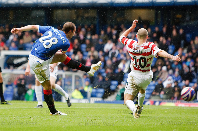 Steven Whittaker opens the scoring for Rangers