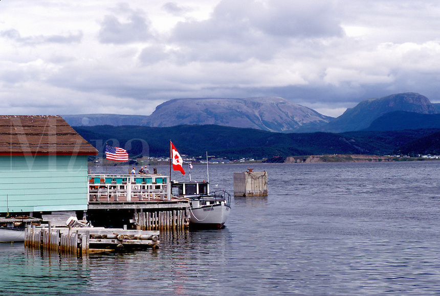 Newfoundland, NF, Canada, Gros Morne National Park from Boone Bay at Woody Point.