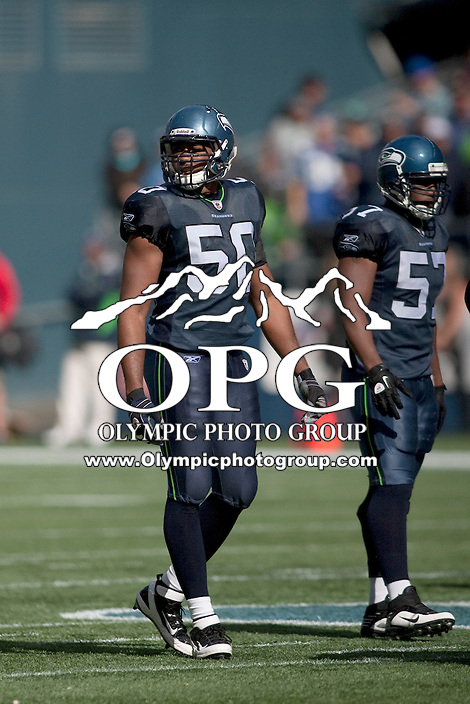 Sept 25, 2011:   K.J. Wright against Arizona. Seattle defeated Arizona 13-10 at Century Link in Seattle, WA.