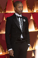 www.acepixs.com<br /> <br /> February 26 2017, Hollywood CA<br /> <br />  Pharrell Williams arriving at the 89th Annual Academy Awards at Hollywood &amp; Highland Center on February 26, 2017 in Hollywood, California.<br /> <br /> By Line: Z17/ACE Pictures<br /> <br /> <br /> ACE Pictures Inc<br /> Tel: 6467670430<br /> Email: info@acepixs.com<br /> www.acepixs.com