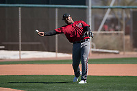 Arizona Diamondbacks third baseman Eudy Ramos (22) makes a throw to first base during a Minor League Spring Training intrasquad game at Salt River Fields at Talking Stick on March 12, 2018 in Scottsdale, Arizona. (Zachary Lucy/Four Seam Images)