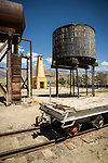 Collections at the Laws Museum, Inyo County, Calif...Railroad water tank