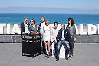 Pablo Aguero, Imanol Arias, Daniel Fanego and Sofia Brito pose during `Eva no duerme´ film presentation at 63rd Donostia Zinemaldia (San Sebastian International Film Festival) in San Sebastian, Spain. September XX, 2015. (ALTERPHOTOS/Victor Blanco) /NortePhoto.com
