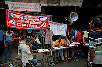 A leftist demonstration against price rise in food grains and vegetables during world recession period, Kolkata.West Bengal, India 2009 Arindam Mukherjee