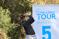 Rasmus Hojgaard (DEN) on the 5th tee during Round 1 of the Challenge Tour Grand Final 2019 at Club de Golf Alcanada, Port d'Alcúdia, Mallorca, Spain on Thursday 7th November 2019.<br /> Picture:  Thos Caffrey / Golffile<br /> <br /> All photo usage must carry mandatory copyright credit (© Golffile | Thos Caffrey)