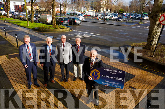 At the launch of Probus who will be hosting the All-Ireland Rally/Conference in Tralee in May. Front Liam Sayers (President) Back L-r, Brendan Dineen, Billy Myles, John Murphy and Peter Kelly.