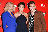 Pixie Lott, Emma Willis &amp; Danny Jones at The Voice Kids photocall at Madame Tussauds, London, UK. <br /> 06 June  2017<br /> Picture: Steve Vas/Featureflash/SilverHub 0208 004 5359 sales@silverhubmedia.com