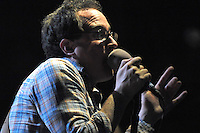 Singer Craig Finn of alt rockers The Hold Steady performs at The Tribeca Film Festival's Breaking Bands 2008 concert at Webster Hall NYC.
