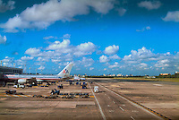 Ft Lauderdale Florida Airport, American Airlines boarding at Gate
