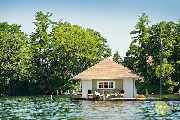 Lake George boathouse, NY.