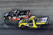 #18: Noah Gragson, Kyle Busch Motorsports, Toyota Tundra Safelite AutoGlass, #98: Grant Enfinger, ThorSport Racing, Ford F-150 Champion Power Equipment