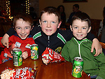 Cathal Shiel, Connor McGinty and Darren Stone pictured at the O'Raghallaigh's Christmas party. Photo:Colin Bell/pressphotos.ie