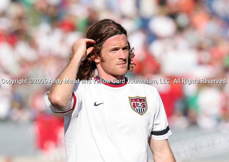 23 May 2006: John O'Brien (USA). The United States Men's National Team lost 1-0 to their counterparts from Morocco at the Nashville Coliseum in Nashville, Tennessee in a men's international friendly soccer game.