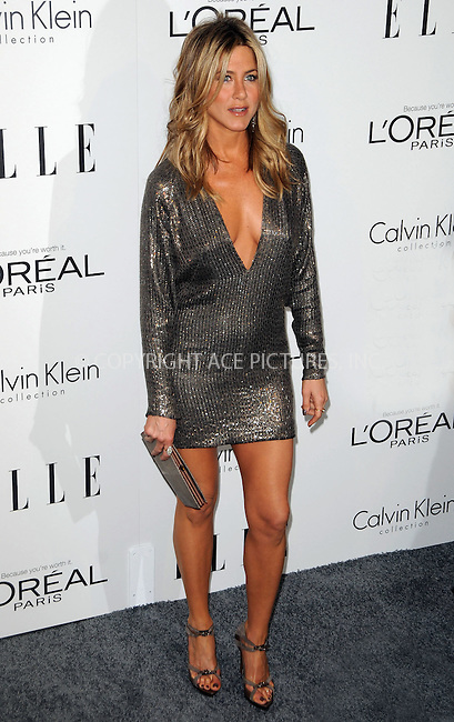 WWW.ACEPIXS.COM . . . . .  ....October 17 2011, LA....Actress Jennifer Aniston arriving at ELLE's 18th Annual Women in Hollywood Tribute at the Four Seasons Hotel on October 17, 2011 in Los Angeles, California. ....Please byline: PETER WEST - ACE PICTURES.... *** ***..Ace Pictures, Inc:  ..Philip Vaughan (212) 243-8787 or (646) 679 0430..e-mail: info@acepixs.com..web: http://www.acepixs.com