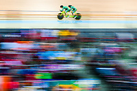 Picture by Alex Whitehead/SWpix.com - 23/03/2018 - Cycling - 2018 UCI Para-Cycling Track World Championships - Rio de Janeiro Municipal Velodrome, Barra da Tijuca, Brazil - Katie-George Dunlevy piloted by Eve McCrystal of Ireland compete in the Women's B 3km Pursuit qualifying.