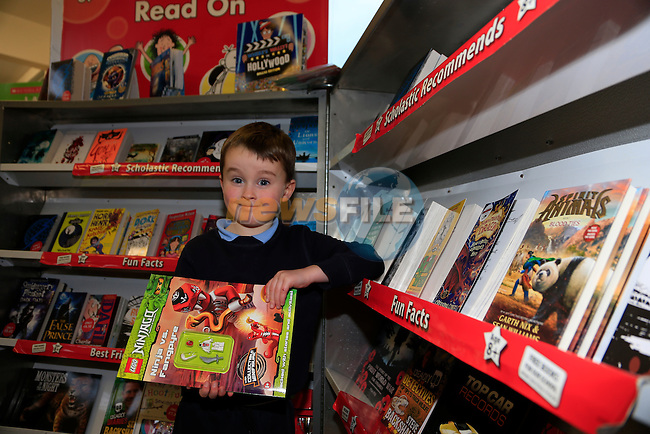 Max Fenton at the Parents Council book fair in Duleek Boys National School.<br /> Picture: Fran Caffrey www.newsfile.ie