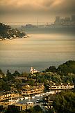 USA, California, Tiburon, Lyford House and the San Francisco Bay