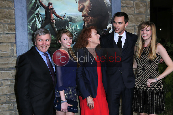 Nicholas Hoult and family<br />