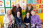 At Caherleaheen NS Grandparents Day on Friday were front l-r  Grandmother Josephine Casey, Ciara Sugrue, Roisin Sugrue, Great grandMother Vivian Sugrue, Back l-r Grandfather Tony Casey and Mom Susan Sugrue