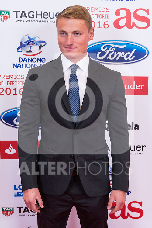 """Marcus Cooper Walz during the """"As sports Awards"""" at Palace Hotel in Madrid, Spain. december 19, 2016. (ALTERPHOTOS/Rodrigo Jimenez)"""