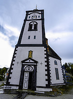 Norway, Røros. Røros Church, also called Bergstadens Ziir. Stitched panorama.