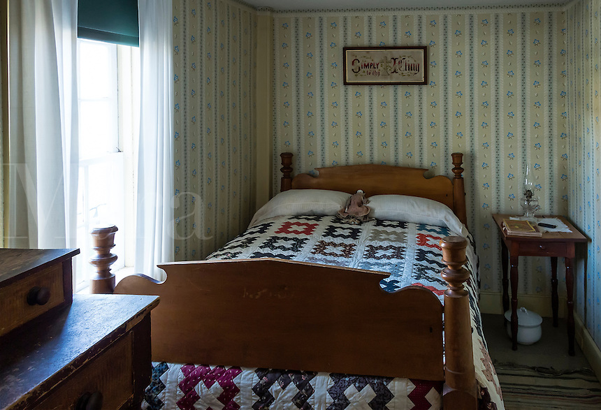 Bedroom birthplace of President Calvin Coolidge, Plymouth Notch, Vermont, USA