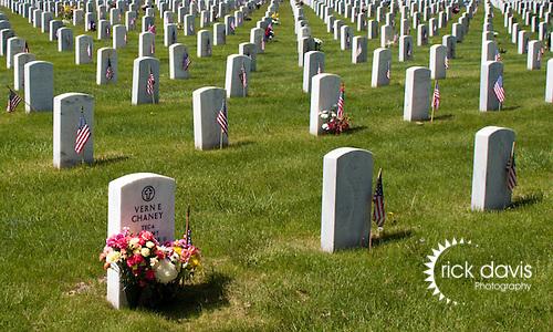 Memorial Day at Fort Logan National Cemetery in Denver, Colorado.