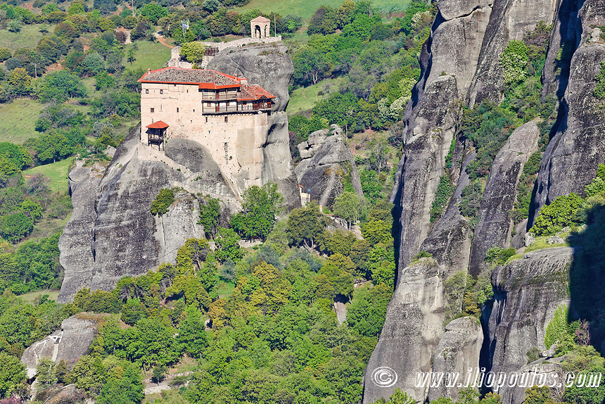 St Nicholas Anapafsas Monastery in the Meteora Monastery complex in Greece.