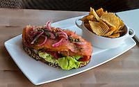 Las Vegas, Nevada.  Salmon and Avocado Breakfast, Giada Restaurant, The Cromwell Hotel.