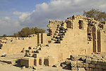 Israel, Sharon region, remains af a Byzantine Church in Caesarea