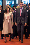 King Felipe VI of Spain and Queen Letizia during his visit to FITUR 2017 at IFEMA in Madrid, Spain. January 18, 2017. (ALTERPHOTOS/BorjaB.Hojas)