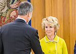 Esperanza Aguirre during the auddience of King Felipe VI with representation of Gregorio Ordonez Fenollar Foundation at Zarzuela Palace in Madrid. 20 January 2020. (Alterphotos/Francis González)