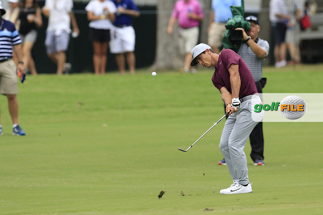 Thorbjorn Olesen (DEN) chips onto the 10th green during Friday's Round 2 of the 2017 PGA Championship held at Quail Hollow Golf Club, Charlotte, North Carolina, USA. 11th August 2017.<br /> Picture: Eoin Clarke | Golffile<br /> <br /> <br /> All photos usage must carry mandatory copyright credit (&copy; Golffile | Eoin Clarke)