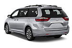 Car pictures of rear three quarter view of a 2018 Toyota Sienna Limited FWD 5 Door Mini Van angular rear