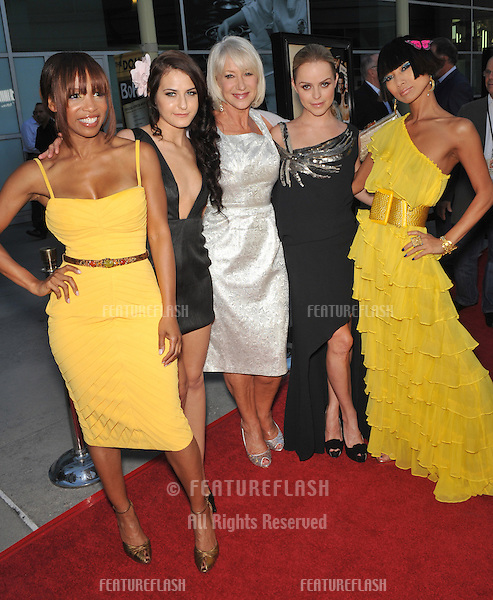 "LtoR: Elise Neal, Scout Taylor Compton, Dame Helen Mirren, Taryn Manning & Bai Ling at the Los Angeles premiere of their new movie ""Love Ranch"" at the Arclight Theatre, Hollywood..June 23, 2010  Los Angeles, CA.Picture: Paul Smith / Featureflash"