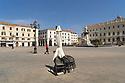 12 aprile 2020, Sassari, piazza d'Italia. Pasqua di Resurrezione.
