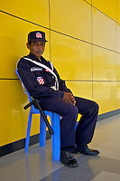 Security Guard of a Bank in Colurful Battambang Cambodia