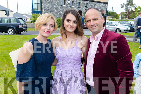Eni Gaxha, and her parents pictured at Mounthawk Secondary School, Tralee, graduation Mass at Our Lady & St. Brendan's Church, Tralee on Friday afternoon last.