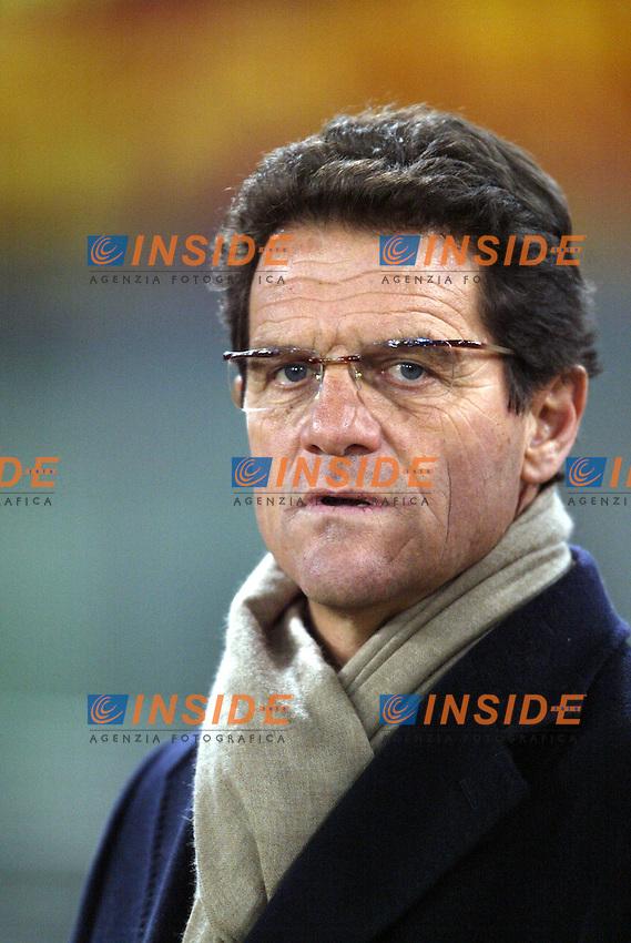 Roma 22/1/2004<br /> ROMA MILAN COPPA ITALIA 1-2<br /> Fabio Capello Roma<br /> Foto Andrea Staccioli Insidefoto