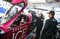 Feb 10, 2019; Pomona, CA, USA; Crew members for NHRA top fuel driver Leah Pritchett during the Winternationals at Auto Club Raceway at Pomona. Mandatory Credit: Mark J. Rebilas-USA TODAY Sports