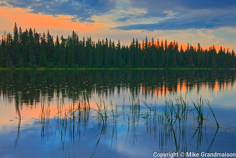 The Grass River at dusk<br />