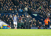 2nd December 2017, The Hawthorns, West Bromwich, England; EPL Premier League football, West Bromwich Albion versus Crystal Palace; West Bromwich Albion Head Coach Alan Pardew raising his arms after a call by Referee Mr. Michael Oliver